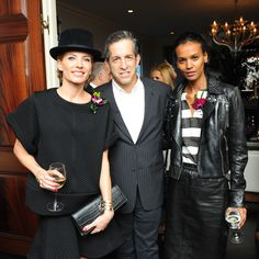 Our founder Liya Kebede wearing the Gola Tee at the CFDA New Members Cocktail party. Also available in turquoise and pink, shop the look right now on lemlem.com!