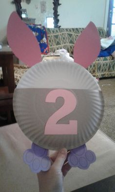 Paperpbord rabbit. Put your birthday sweets inside.