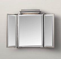 Dillon Rectangle Mirror In Chrome Finish Restoration