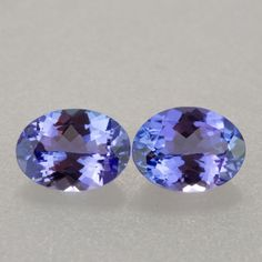 2.33ct TW 8x6mm Oval Cut Matched Tanzanite Pair  NATURAL TANZANITE PAIRS GEMSTONE  FROM GEMROCKAUCTIONS.COM