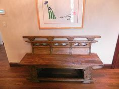 Antique Chinese opera bench, carved in elm and dating to It was crafted in the Shanxi Province of China and it would originally have been used for a family to sit together during a theatrical or musical performance in an opera house.