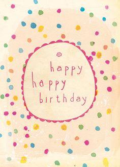 Happy+Happy+Birthday++recycled+post+consumer+by+lovelysweetwilliam,+$5.00