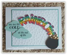 watercoloring with over the rainbow tree builder punch simple swap card