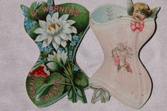 """Victorian Trade Card Advertising """"Corsets"""" Great Condition 1880's  Dr. Warners"""