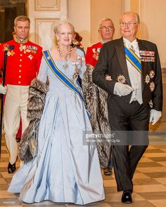 Queen Margrethe of Denmark and Henrik, Prince Consort of Denmark, attend a State Banquet at Christiansborg Palace, during the state visit of the King and Queen of the Netherlands, on March 17, 2015 in Copenhagen, Denmark.