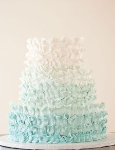 pretty cake - perfect for mermaid party!
