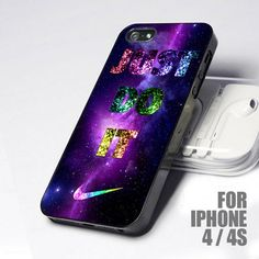Just Do It Nike Galaxy Nebulla design for iPhone 4 or 4s case