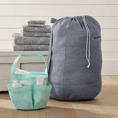 Deluxe Shower + Laundry Set, Mini Dot #pbteen
