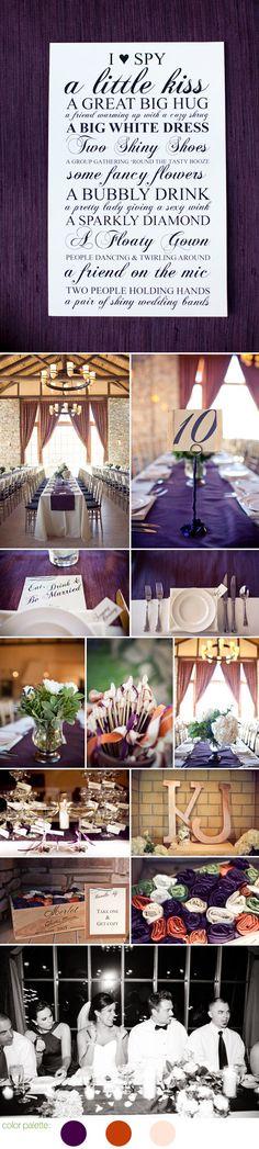 Elegant wedding in words