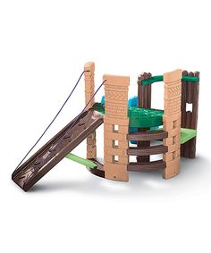 Look at this Little Tikes 2-in-1 Castle Climber Play Set on #zulily today!