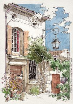 Oppede Le Vieux Casa y farol