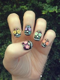 3D Sugar Skull Halloween Nails, 3D nail art is a technique for decorating nails that creates three dimensional designs.