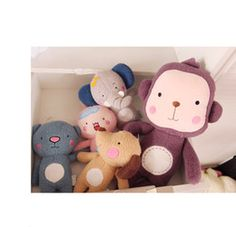 online shopping Korea Cute Plush Toy Animal Patterns cm cm Christmas Gift Lovely Elephant Monkey Bear Rabbit Dog Cotton Dolls