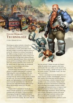 DnD 5e Homebrew — Technology Domain Cleric by the_singular_anyone