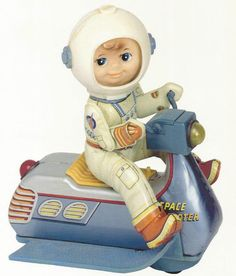 Museum Postcard Vintage Toy Space Scooter Battery Operated Tin Litho Japan