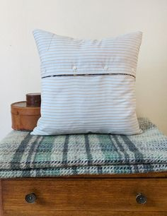 Check out this item in my Etsy shop https://www.etsy.com/listing/527827189/striped-cushion-cover-brown-and-blue  Blue striped cushion cover, summery cushion cover interior essentials on Etsy from Ever Home