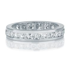 Diamond Wedding Band 14k White Gold Band Pave por DiamondsMine, $1.950,00