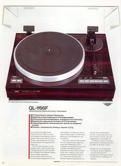 Vintage Audio — 198x JVC QL-Y66F Vinyl Record Player, Record Players, Vinyl Records, Radios, High End Audio, Phonograph, Audio System, Turntable, Vintage