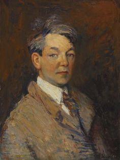 William Glackens Self Portrait | William James Glackens (American: 1870–1938) - Self-Portrait (1908)