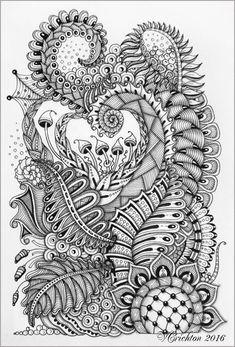 Zentangle art, zentangle pattern