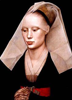 Portrait of a Lady Rogier van der Weyden (1460) an early Flemish Renaissance artist    artsales.com