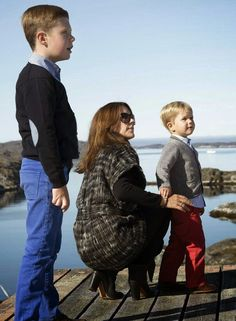MYROYALSHOLLYWOOD FASHİON: Danish Crown Princely Family visit Qeqertarsuatsiaat, Greenland, August 5, 2014-Prince Christian, Crown Princess Mary and Prince Vincent