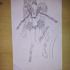 GHonorio Fashion: Tentando desenhar uma fantasia de carnaval ( A dan...