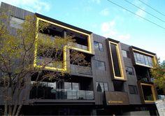 #Alucobond Facade Cladding #ACM Building Exterior, Facade Design, Facade Architecture, Cladding, Multi Story Building, Australia, Mansions, House Styles, Modern