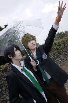 Nanase Haruka and Tachibana Makoto - Free!..... Makoto is all,  I CAN SHOW YOU THE WORLD.