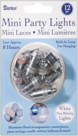 Darice Non Blinking Mini Party Lites Value Pack. Illuminate Floral Arrangements Centerpieces Place Settings Candle Votives Balloons And Much More This Package Contains Twelve Non Blinking Disposable Party Lights With A Built In Loop For Hanging. Lights L Wedding Supplies, Party Supplies, Mini Party, Party Party, Glow Party, Balloon Lights, Balloon Chandelier, Balloons And More, Party Lights