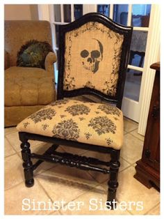 How to turn a junk find into a cool Halloween conversation piece! By Danali Home for Sinister Sisters.