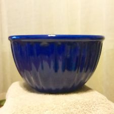 "Chantal 12 Cup Dark Blue Mixing Heavy Bowl "" New"" NICE!! Dark Blue, Nice, Deep Blue, Nice France"