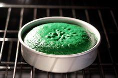 Green Velvet Cake for St Pats