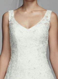 Organza/Lace Bridal Ball Gown With Tank Style Bodice by Oleg Cassini for David's Bridal