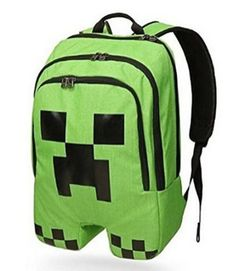 Green Minecraft rucksack shaped as a Minecraft creeper! This officially licensed Minecraft backpack is a must for fans! Get your Minecraft rucksack TODAY! Creeper Minecraft, Minecraft Gifts, Minecraft School, Minecraft Party, Minecraft Stuff, Minecraft Room, Minecraft Clothes, Minecraft Furniture, Geek Chic