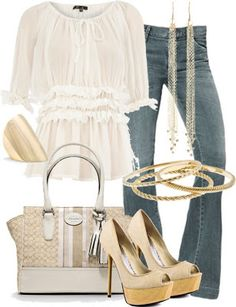 LOLO Moda: Romantic White Outfit