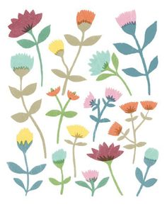 print & pattern blog - susie, floral design, simple, floral, modern, contemporary, pattern, nature, collage, colour