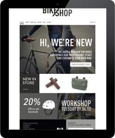 BIKE SHOP - branding & web | Design: UI/UX. Apps. Websites | Line Otto |