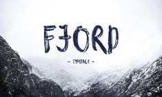Scriptfont »Fjord« © Wild Type | Krisjanis Mezulis