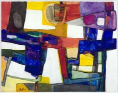 Estève, Maurice - Abstract Art, Composition 166, 1957 Aquarelle sur papier