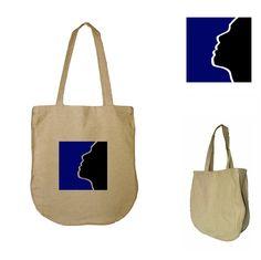 Torba na zakupy NATURAL BAGS - THE FACE w HANAKO na DaWanda.com