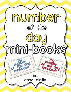 Get your students' NUMBER Sense SHARP with these Number of the Day Mini-Books that are Common Core Aligned for Grades 1-2! Check them out!