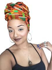 Stand out with this Wax fashion head wrap. It is custom made from imported 100% premium African cotton fabric our scarves are easy to tie and large enough for any style. A nicely done head wrap is an