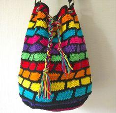 wonderful colorful crochet bag