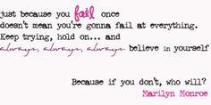 Always believe in urself