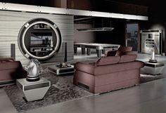 #hightech #billiardroom #vismaradesign furniture all furniture are enriched with Carbon fiber #luxury