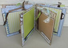 Baby Boy Scrapbook Album Guest Signing Book Baby Shower Keepsake Chipboard 6x6 READY to SHIP