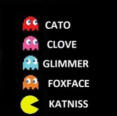 Lol hunger games humor / funny / PAC man / video games