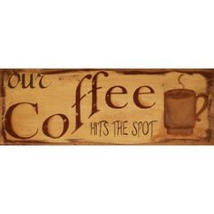 """Barnyard Designs 'Our Coffee Hits the Spot' Retro Vintage Tin Bar Sign Country Home Decor 14"""" x 5"""""" #homedecor"
