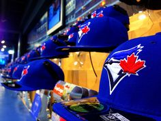 Toronto Blue Jays caps on display at Jays Shop Stadium Edition by JoshMcConnell, via Flickr